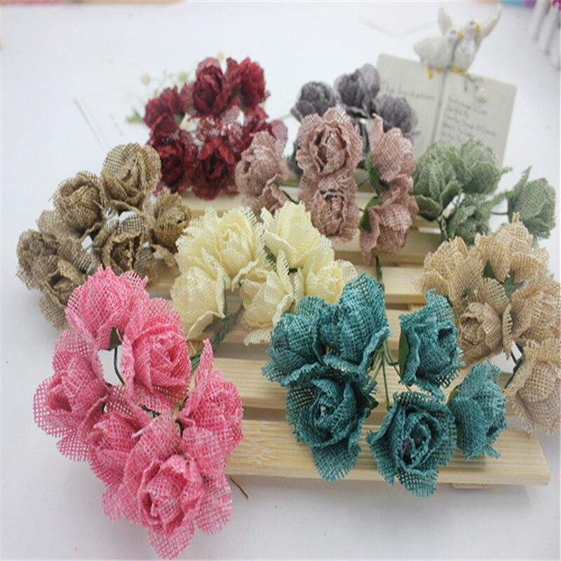 diy flor de imitacin flor atrezzo novia tocado de corona de material natural tela de camo