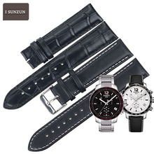купить ISUNZUN 19mm Women Genuine Leather Watchbands For Tissot 1853 T095 Watch Strap For T095.417A Watches Band Belt Bow-knot Buckle по цене 2342.12 рублей