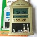 1 UNIDS/LOTE Color Oro reloj azan oración athan reloj Automático reloj de pared Azan oración Fajr alarma HA-4004 1150 ciudades