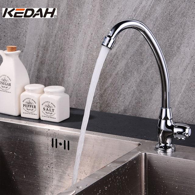 KEDAH Single Handle Brass Kitchen Faucets Classic Deck Mounted ...