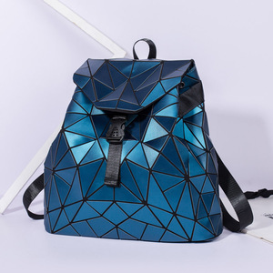 Image 3 - 2019 Fashion Matte Women Backpack Female Black Backpacks Daily Backpack For Girls Geometry Luminous Bagpack Noctilucent Bags Sac