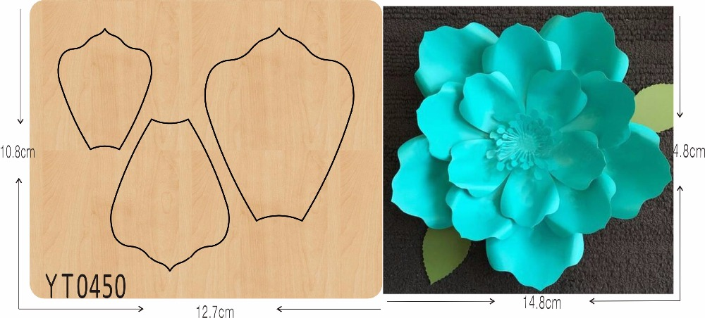 Light Blue Flower DIY New Wooden Mould Cutting Dies For Scrapbooking Thickness/15.8mm/YT0450