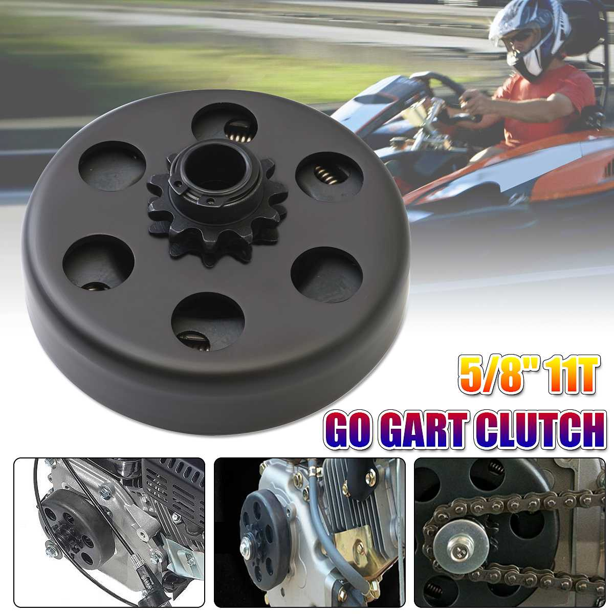 5/8'' Engine Clutch,Sprocket Centrifugal Clutch Sprocket 11T Bore Black For Gokart KDC Kart GX160 GX200 MAX80