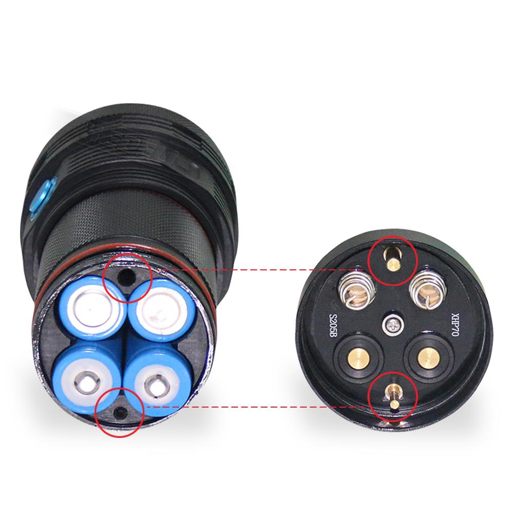 Super bright flashlight xhp70 Photography video fill light flashlight 18650 battery 3 led flash light waterproof torch linterna - 4