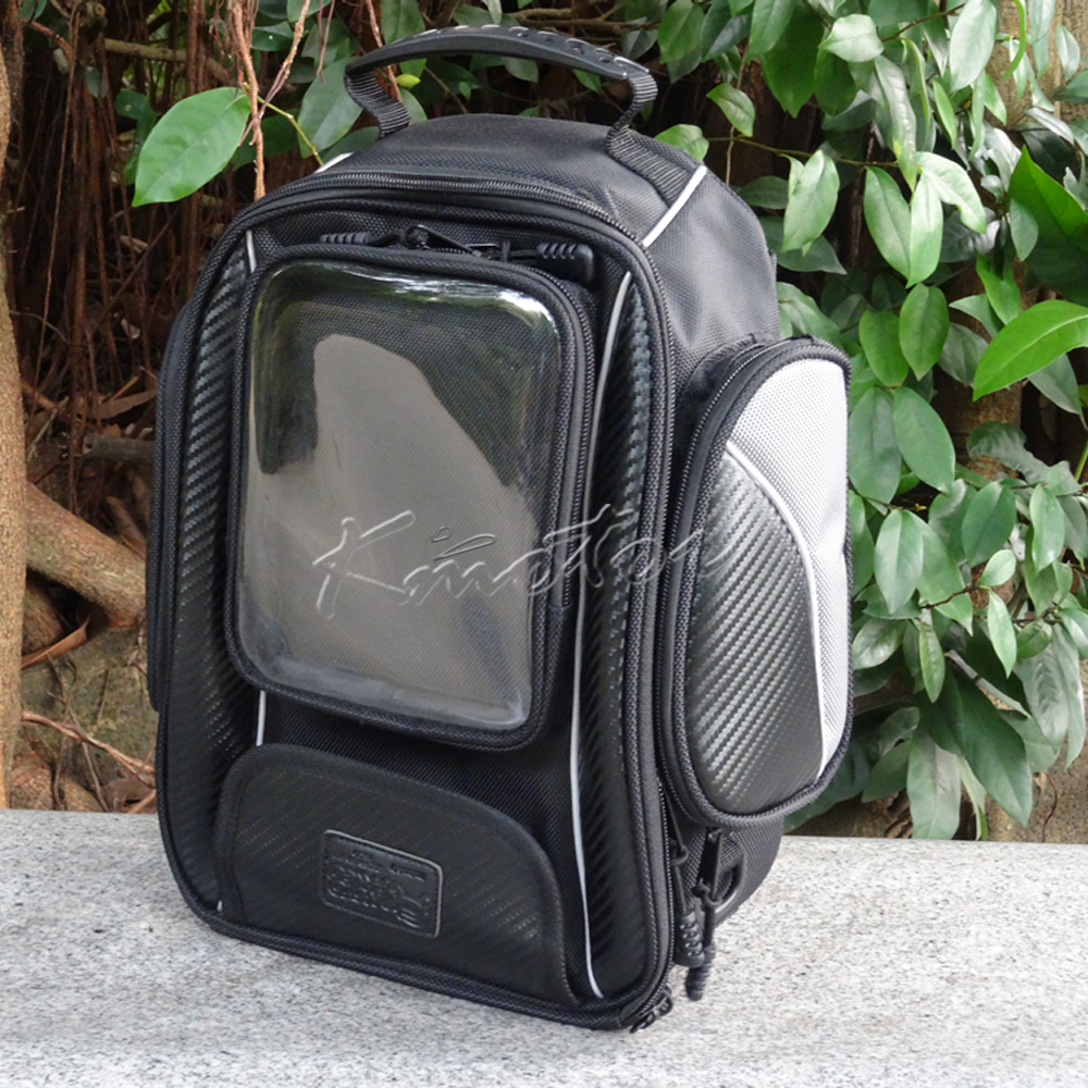 Komine SA-051 10.5L Motorcycle Tank Bag HandBag Black Travel Luggage Tool Bags for Harley Touring Honda Yamaha Suzuki Kawasaki duhan motorcycle waterproof saddle bags riding travel luggage moto racing tool tail bags black multifunction side bag 1 pair