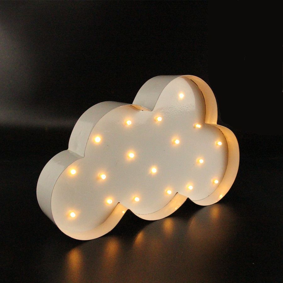 Lamps with night light - Aliexpress Com Buy White Metal Cloud Lightning Ray Led Marquee Sign Light Up Vintage Night Light Wall Lamps Indoor Deration From Reliable Night Light