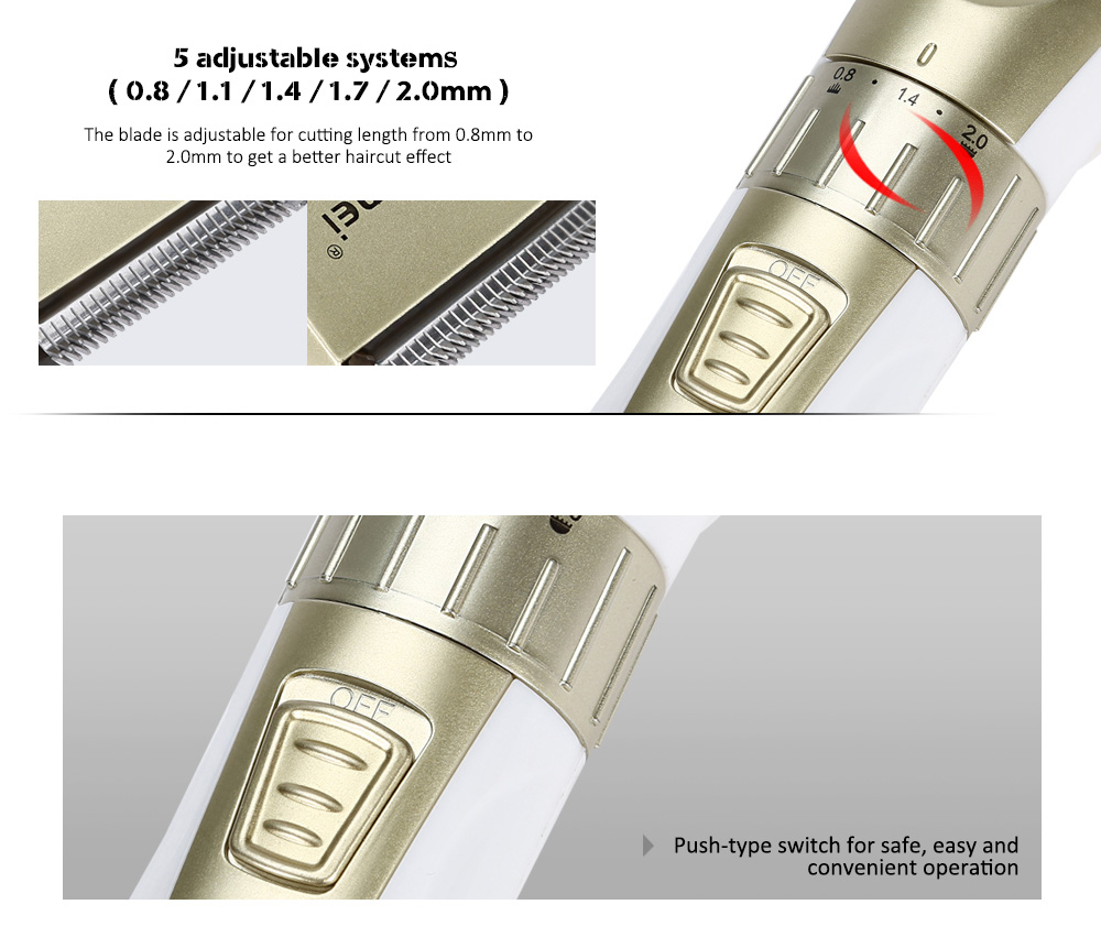 Kemei KM-0721 Adjustable Rechargeable 3