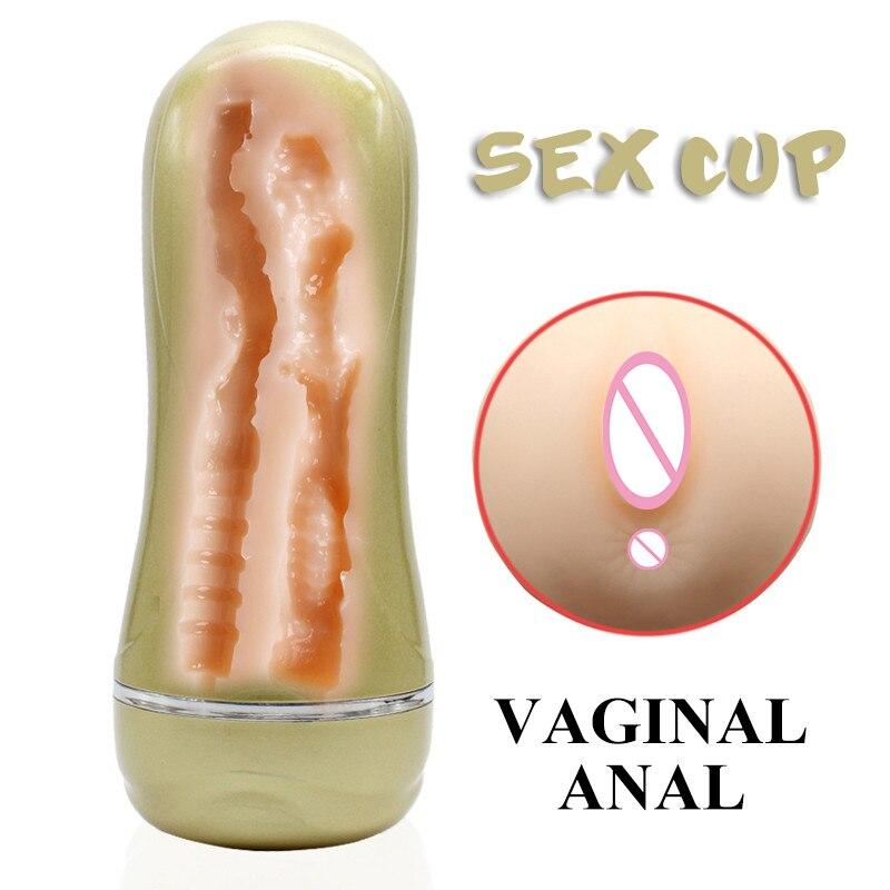 e7d1fc9b2702 Cheap Masturbadores masculinos, Juguetes sexuales para hombres realista  Vagina Anal túneles masturbación Copa productos del