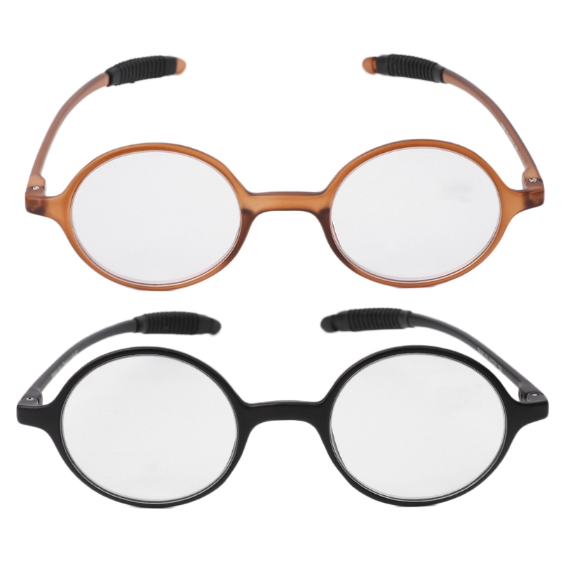 High-Quality Reading Glasses Lightweight TR90 Round Reading Glasses Resin Presbyopia Eyeglasses 1.0 1.5 2.0 2.5 3.0 3.5 4.0