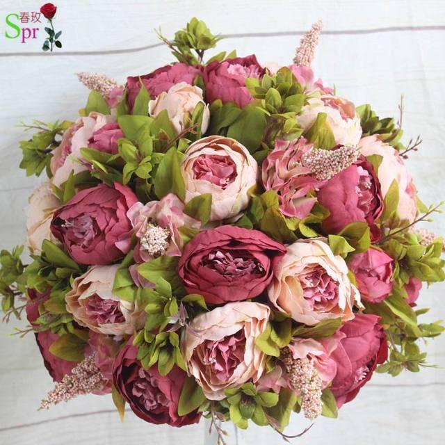 Spr 10 Unidslote Boda Arreglo Floral Flores Artificiales De La Centro Mesa