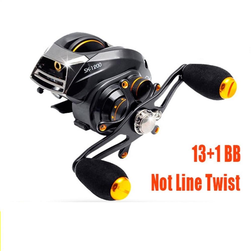 ФОТО New  ELF Water Drop wheel  Super Light  209g Two Brake Systems Baitcasting Fishing Reel 14BB Baitcasting Reel