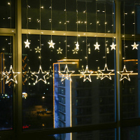 Holiday Lighting LED Fairy Star Curtain String luminarias Garland Decoration Christmas Wedding String Lights Home Decor Lamps