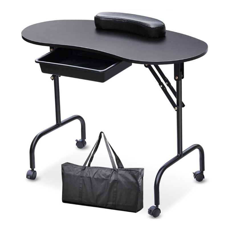 Pandahall Portable Manicure Nail Table For Nail Station Desk Beauty Salon Equipment Black White Foldable Nail Desk цена