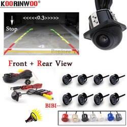 Koorinwoo Vision Датчики парковки автомобиля 8 радар с видео камера заднего вида система parktronic показать цифровое расстояние черный серый