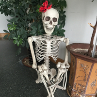 Halloween Skeleton 100% Plastic Life Size Skeleton Haunted House Escape Horror props Decorations