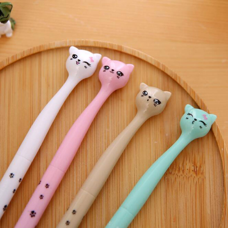 Cute Cat Gel Pen Chancellory Office School Supplies Student Korea Stationery Signing Pen School Writing Pen Pilot Special Price