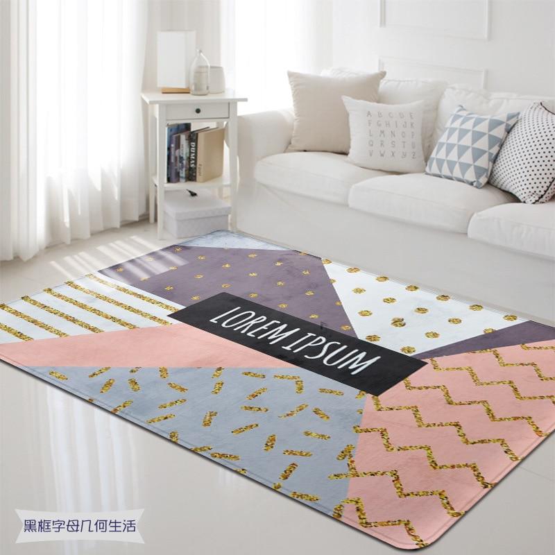 Modern Geometric Fashion Super Soft Carpet Pad Bedside Blanket Doormat Outdoor Prayer Parlor Home Floor Mat Anti slip Rugs