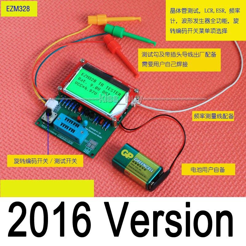 2016 Versão Mega328 Combo Digital Componente Capacitor Medidor De Diodo Transistor Testador ESR LCR Freqüência PWM De Onda Quadrada Gêneros