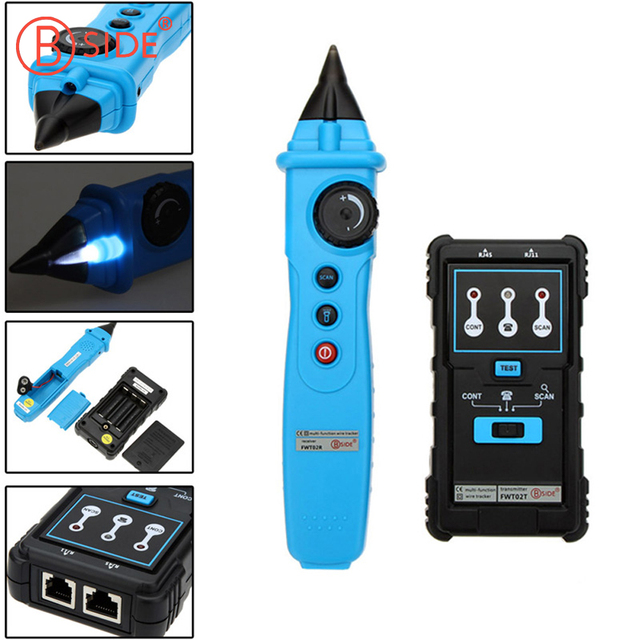 BSIDE FWT02 Network Cable Detector RJ45 RJ11 Wire Tracker Tracer ...