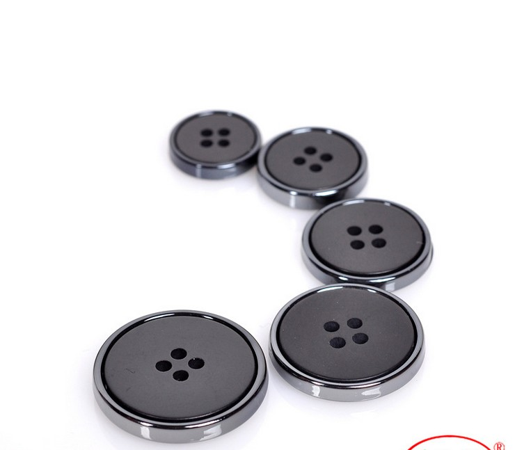 30Pcs Round 4 Hole Suit Buttons Resin Black Men Coat Button Trench Clothing Overcoat Buttons DIY 14/16/19/22MM