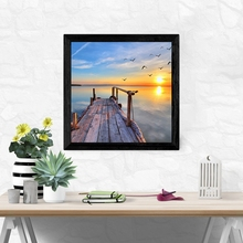 Laeacco Abstract Sea Sunrise Wall Art Posters and Prints Nordic Picture Canvas Painting Living Room Home Decor