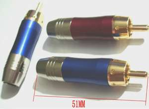Top 10 largest blue gold video list 20 pcs gold plated rca phono plugs audiovideo solder red blue fandeluxe Choice Image