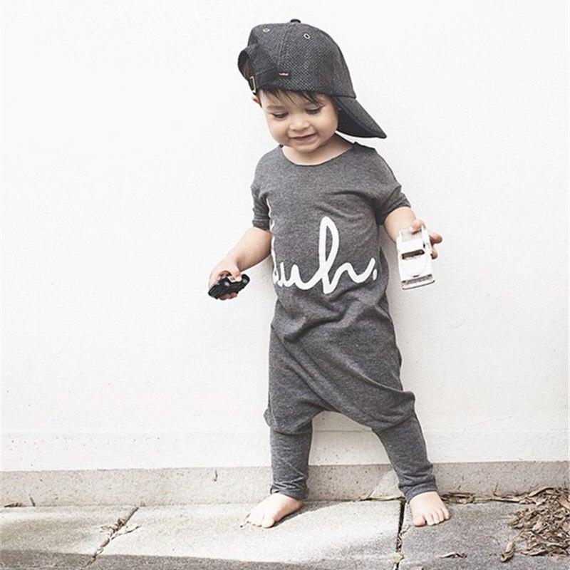 New Arrivals Brief Boys Girls Sets Solid Cute Kids Jumpsuits Cotton Fashion Children Clothing Set