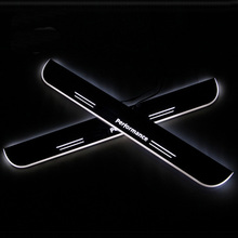 цена на SNCN LED Car Scuff Plate Trim Pedal Door Sill Pathway Moving Welcome Light For BMW 3series E46 1998 -2003 2004 2005 Badge Emblem