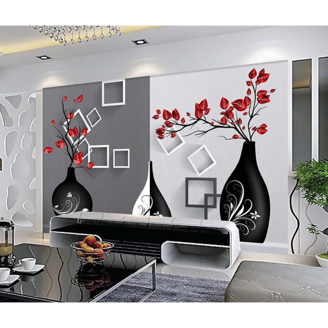 3D Custom Photo DIY Wallpaper type Wallpaper For Walls 3D Modern Art