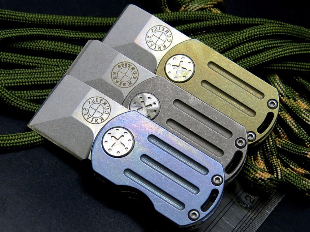 EFE serge Mini Flipper Folding Knife M390 Blade Titanium Alloy Handle Tactical Survival Pocket Knives Camping Hunting Key Tool in Knives from Tools