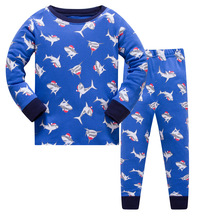 Hot Sale Kids Boys Clothing Sleepwear Pajama Sets Casual Cotton Print O-Neck Pajamas Suits Star Children Home Clothes