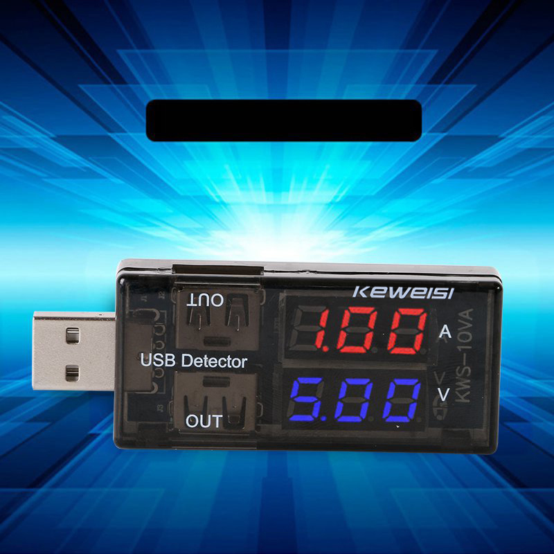 USB Charger Current Voltage Charging Detector Battery Tester Voltmeter Ammeter @