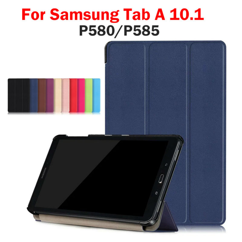Flip PU Leather Cover For Samsung GALAXY Tab A 10.1 P580 P585 SM-P580 SM-P585 Case Tablet Back Cover Fashion Funda Stand holder