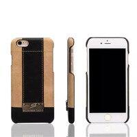 Modes De Luxe Coque en peau de Mouton Couverture arrière Pour iPhone 6 6 S Cas de Retour en relief qualité marchandises véritable En Cuir Mobile téléphone Shell