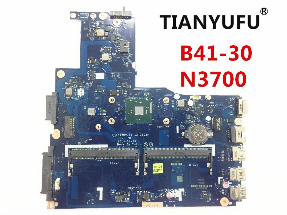 AIWBO B1 LA C292P Laptop motherboard FOR LENOVO B41 30 motherboard with N3700 CPU no fingerprint