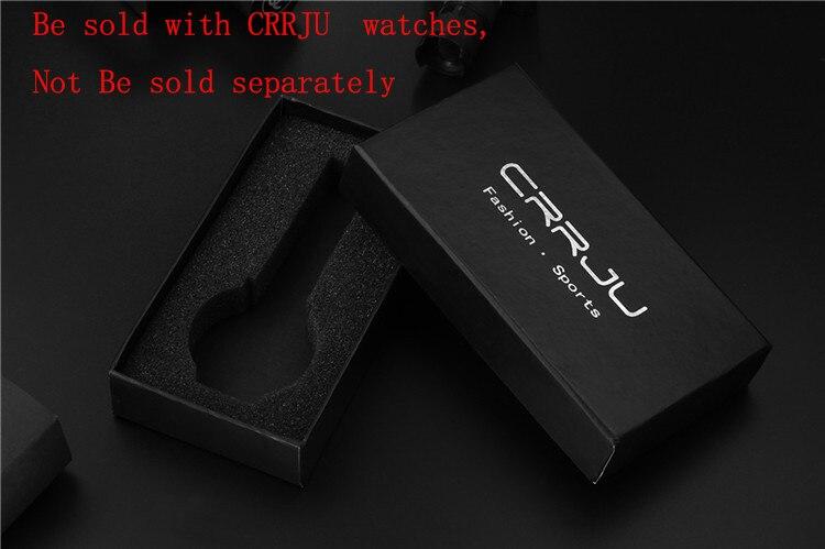 Mode rectangle noir CRRJU montres boîte-cadeau, matériel de carte dure il sera envoyé avec des montres Yazole. Ne pas être vendu séparément