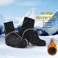 BATFOX Winter Cycling Shoes Cover Thermal Waterproof Fleece Road Bicycle Bike Shoes Cover Men Women Cycling