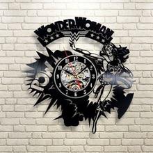 Popular Item  3D Wall Clock Super Hero Creative Art Watch Personalized 12 Inch Vinyl Record Clock