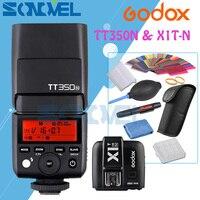Godox TT350N 2.4G HSS 1/8000s i ttl GN36 lampa błyskowa Speedlite + X1T N nadajnik do lustrzanek cyfrowych Nikon w Lampy błyskowe od Elektronika użytkowa na