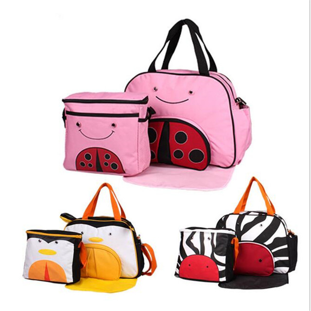 Western style Lovely Animal Maternity Big Nappy Bags+Picnic Bag Mummy Baby Milk Bottle Shoulder Bag  WCB06