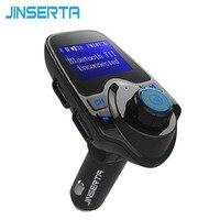 JINSERTA MP3 Odtwarzacz Audio Bluetooth Zestaw Głośnomówiący Bezprzewodowy Nadajnik FM Wyświetlacz LED Dwa porty USB do ładowania Wsparcie TF AUX U Disk
