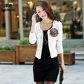 Woman Jacket Plus Size L-4XL 5XL (bust120cm) Spring New Tops Fashion Style Short Disign Women Slim Suit Female Coat Casual Dress