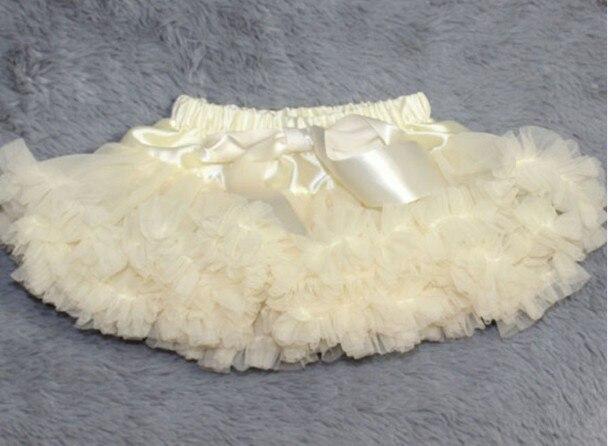 Розового цвета и цвета слоновой кости ребенка юбка детские юбки-американки для маленьких девочек пачка фотографии - Цвет: Белый