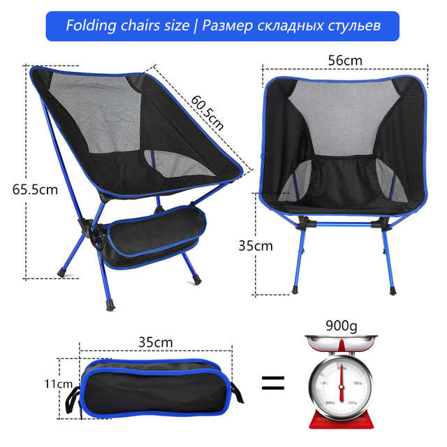 af71f1c7472a Lightweight Compact Folding Camping Chairs Outdoor Furniture Portable  Breathable Comfortable Perfect Hiking Fishing Chairs
