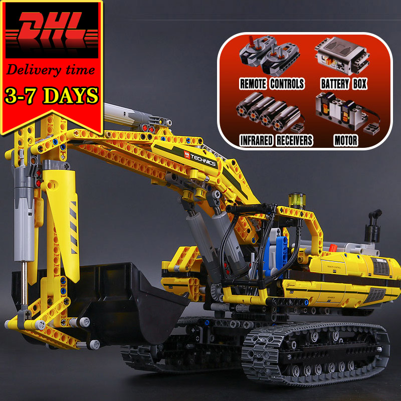 DHL LEPIN 20007 Excavator Electric Building Blocks Compatible 8043 Bricks Model Kit technic Educational Toy For Children 1123pcs building blocks stick diy lepin toy plastic intelligence magic sticks toy creativity educational learningtoys for children gift