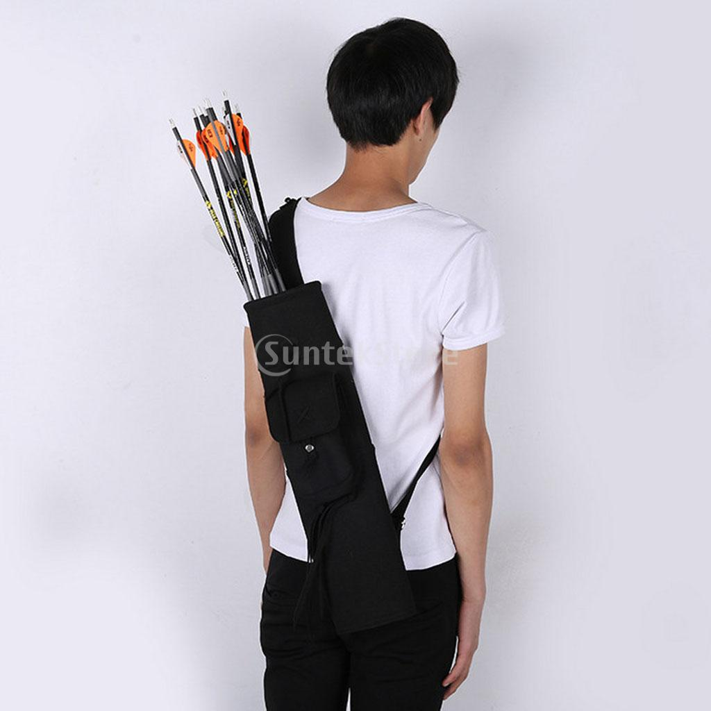 Traditional PU Leather Hunting Back Archery Quiver Bow Arrow Holder Bag Adjustable Strap kootion 2gb