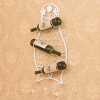 Wine Iron Rack Hanging Wine Rack Bar Creative Fashion Wall Wine Holder Restaurant Decoration