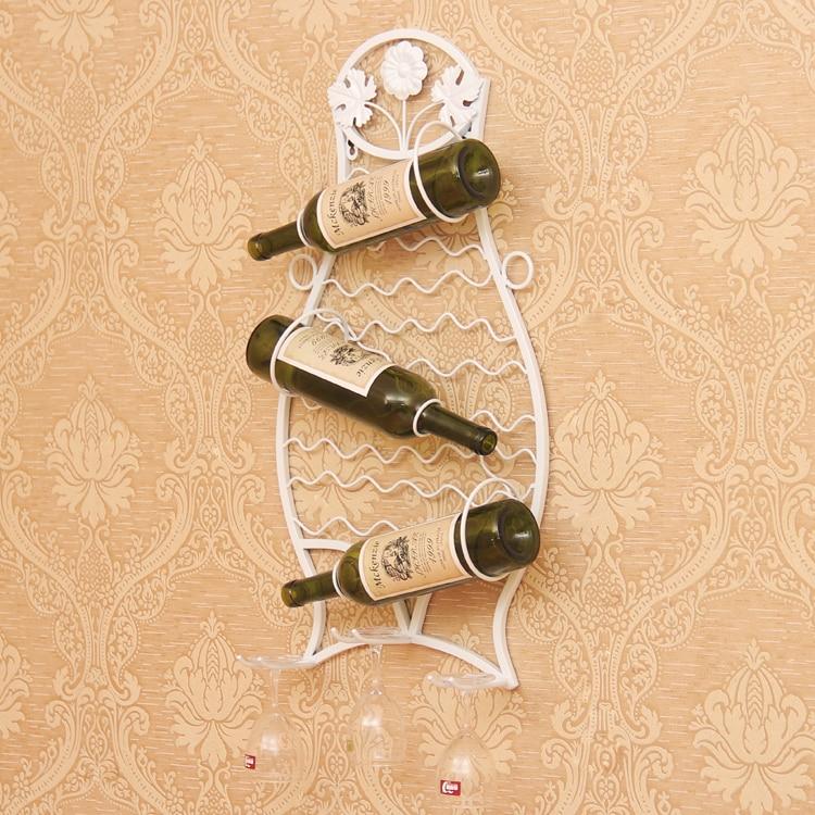 ΞWine iron rack hanging wine rack bar creative fashion wall wine ...