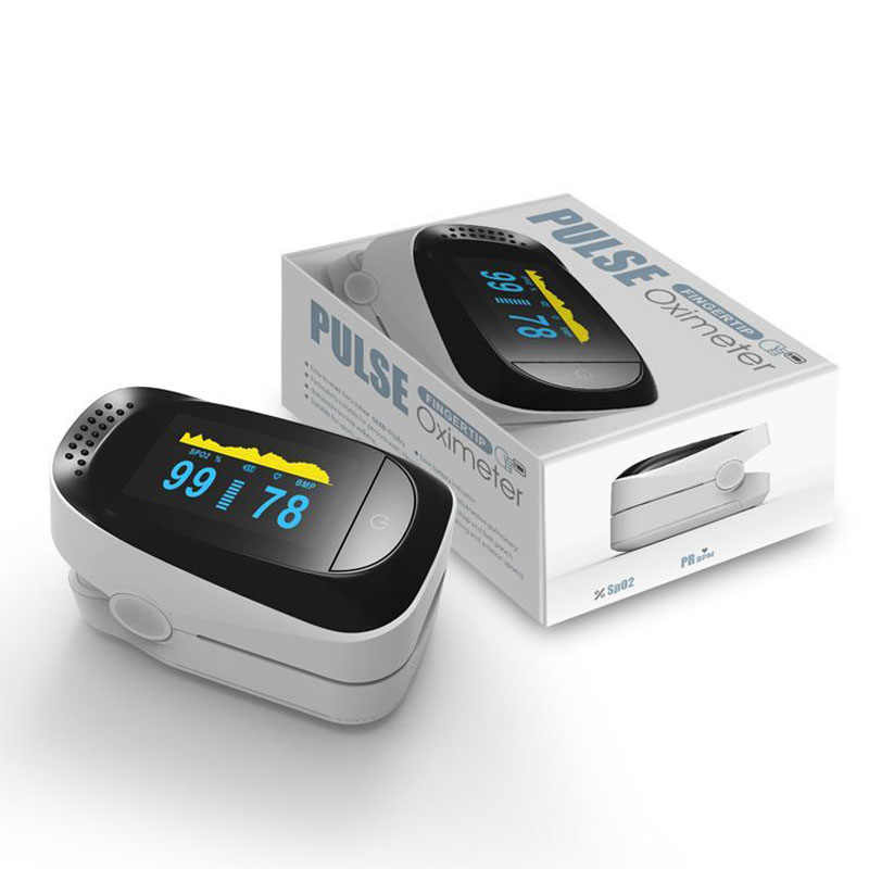 Fingertip Pulse Oximeter Oximetry Finger Oximeter Blood Oxygen Saturation Monitor Personal Health Pulse Blood Pressure Tester