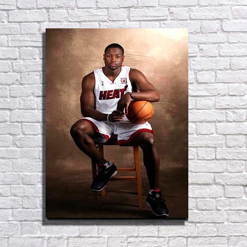 Célèbre basket-ball Star Pop Art peinture grande toile Art mur photos pour décor à la maison peinture à l'huile fournitures pas encadré